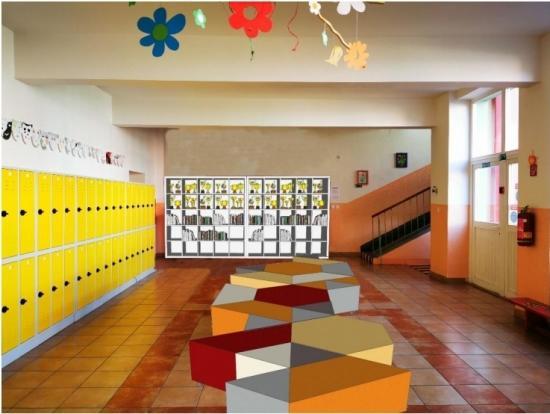 Vizualizácia priestorov Základnej školy s materskou školou J.D. Matejovie.